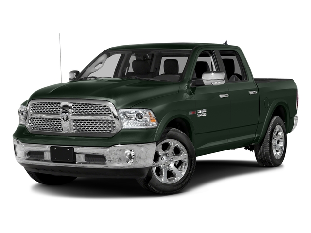 Black Forest Green Pearlcoat 2017 Ram Truck 1500 Pictures 1500 Laramie 4x4 Crew Cab 6'4 Box photos front view