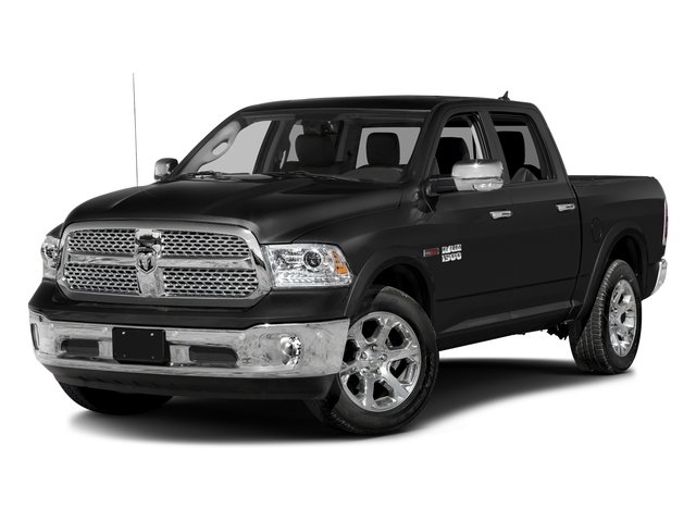 Brilliant Black Crystal Pearlcoat 2017 Ram Truck 1500 Pictures 1500 Laramie 4x4 Crew Cab 6'4 Box photos front view