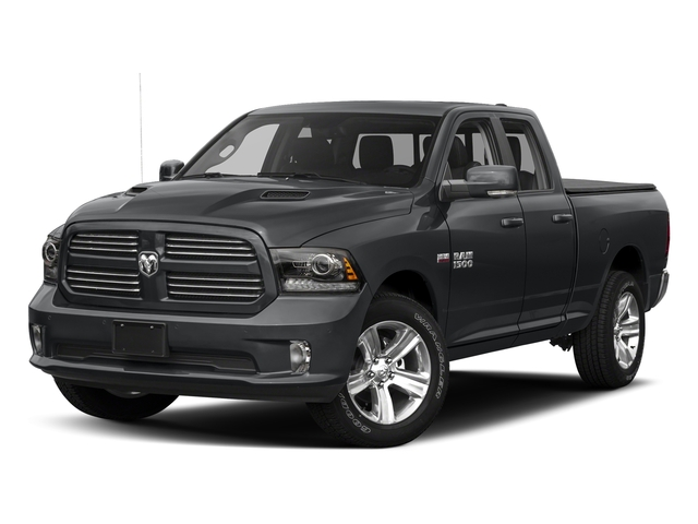 Granite Crystal Metallic Clearcoat 2017 Ram Truck 1500 Pictures 1500 Night 4x2 Quad Cab 6'4 Box photos front view