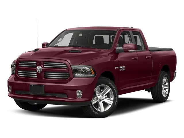 Delmonico Red Pearlcoat 2017 Ram Truck 1500 Pictures 1500 Night 4x4 Quad Cab 6'4 Box photos front view