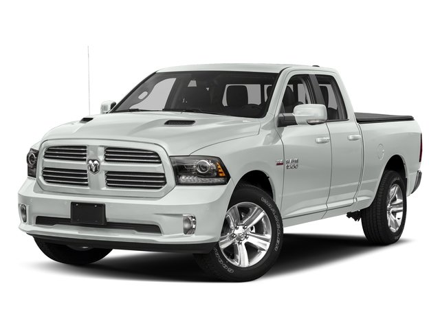 Bright White Clearcoat 2017 Ram Truck 1500 Pictures 1500 Quad Cab Sport 2WD photos front view