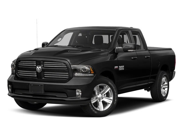 Brilliant Black Crystal Pearlcoat 2017 Ram Truck 1500 Pictures 1500 Quad Cab Sport 2WD photos front view