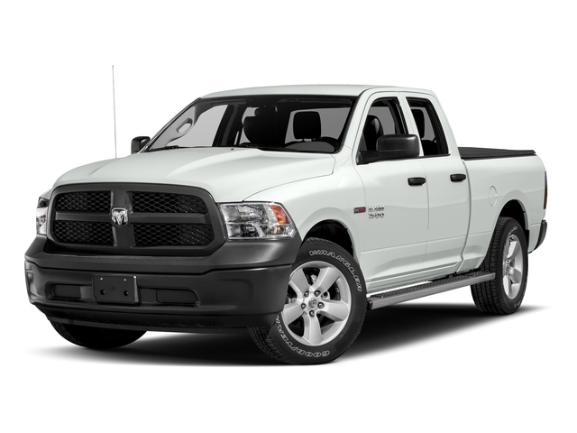 Bright White Clearcoat 2017 Ram Truck 1500 Pictures 1500 Quad Cab HFE 2WD V6 T-Diesel photos front view