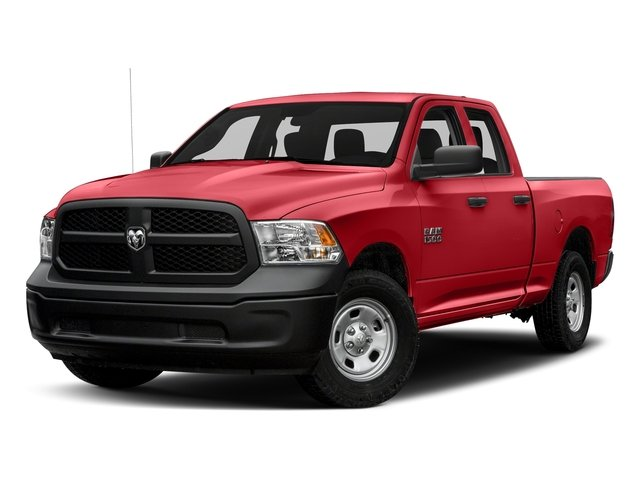 Bright Red 2017 Ram Truck 1500 Pictures 1500 Express 4x2 Quad Cab 6'4 Box photos front view