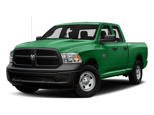 Bright Green 2017 Ram Truck 1500 Pictures 1500 Express 4x2 Quad Cab 6'4 Box photos front view