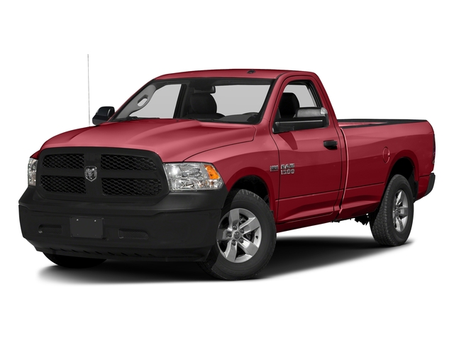 Flame Red Clearcoat 2017 Ram Truck 1500 Pictures 1500 Lone Star 4x2 Regular Cab 6'4 Box photos front view