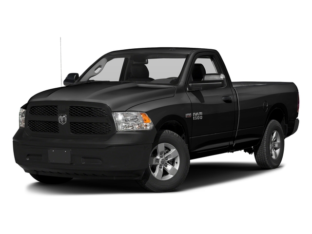 Black Clearcoat 2017 Ram Truck 1500 Pictures 1500 Lone Star 4x2 Regular Cab 6'4 Box photos front view