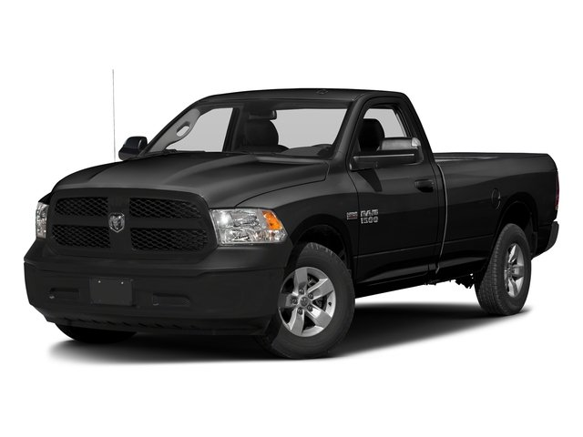 Black Clearcoat 2017 Ram Truck 1500 Pictures 1500 Regular Cab Bighorn/Lone Star 2WD photos front view