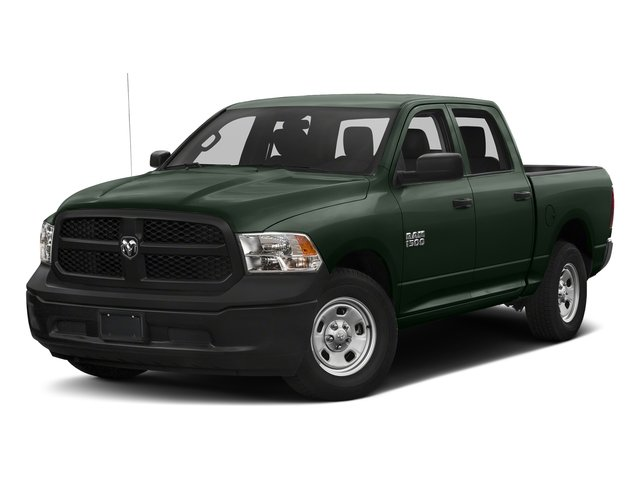 Black Forest Green Pearlcoat 2017 Ram Truck 1500 Pictures 1500 Tradesman 4x4 Crew Cab 5'7 Box photos front view