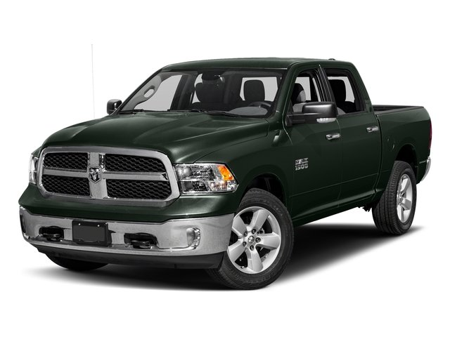 Black Forest Green Pearlcoat 2017 Ram Truck 1500 Pictures 1500 Big Horn 4x2 Crew Cab 6'4 Box photos front view
