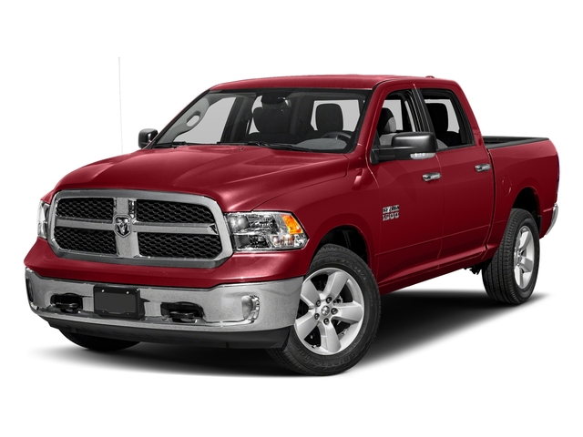 Flame Red Clearcoat 2017 Ram Truck 1500 Pictures 1500 Lone Star Silver 4x2 Crew Cab 5'7 Box photos front view