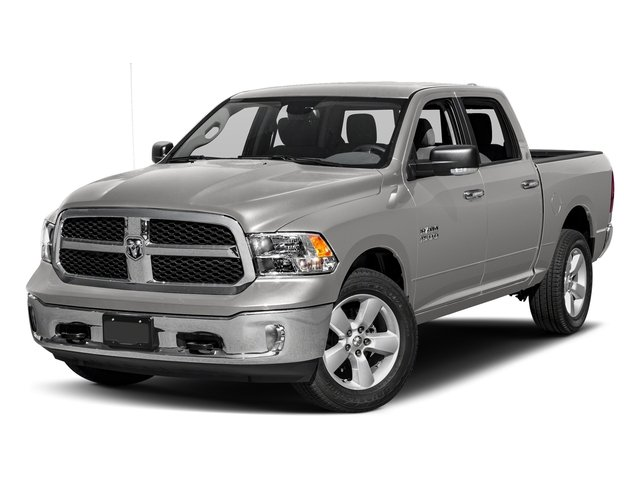 Bright Silver Metallic Clearcoat 2017 Ram Truck 1500 Pictures 1500 Crew Cab SLT 4WD photos front view