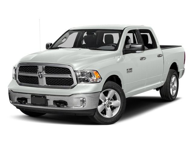 Bright White Clearcoat 2017 Ram Truck 1500 Pictures 1500 Crew Cab SLT 4WD photos front view