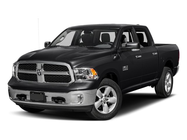 Black Clearcoat 2017 Ram Truck 1500 Pictures 1500 Lone Star Silver 4x2 Crew Cab 5'7 Box photos front view