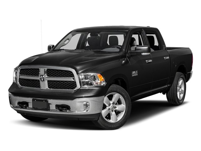Brilliant Black Crystal Pearlcoat 2017 Ram Truck 1500 Pictures 1500 Crew Cab SLT 4WD photos front view