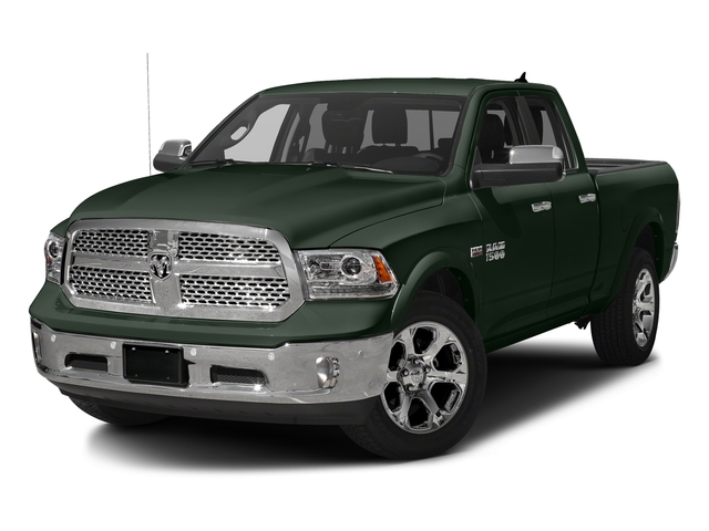 Black Forest Green Pearlcoat 2017 Ram Truck 1500 Pictures 1500 Laramie 4x2 Quad Cab 6'4 Box photos front view