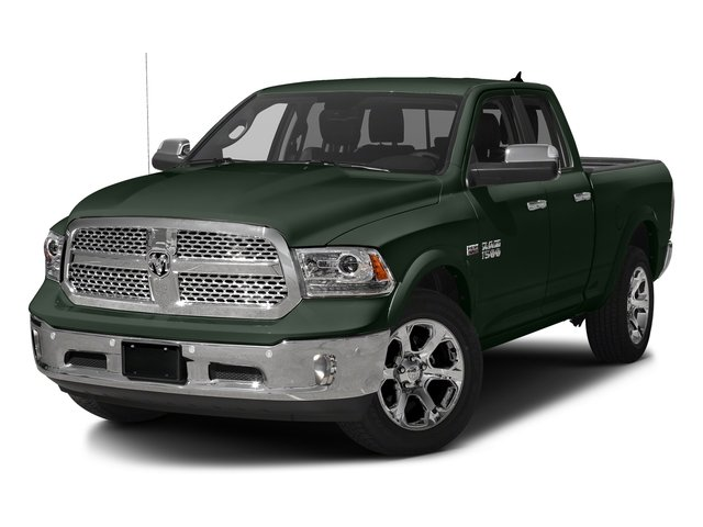 Black Forest Green Pearlcoat 2017 Ram Truck 1500 Pictures 1500 Laramie 4x4 Quad Cab 6'4 Box photos front view