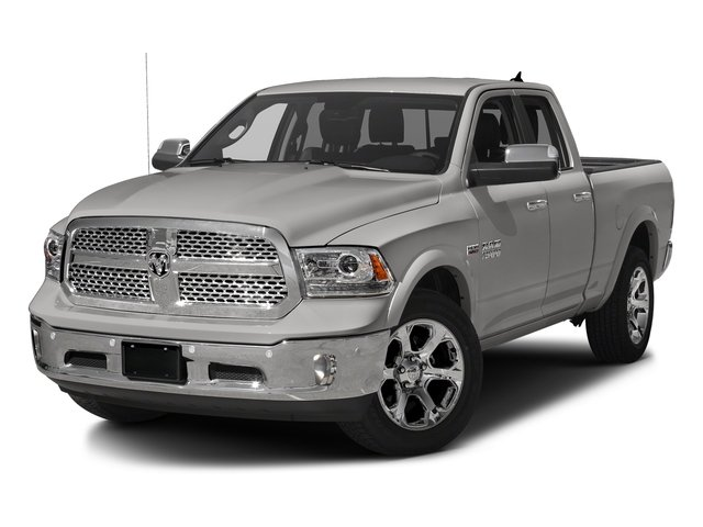 Bright Silver Metallic Clearcoat 2017 Ram Truck 1500 Pictures 1500 Laramie 4x4 Quad Cab 6'4 Box photos front view