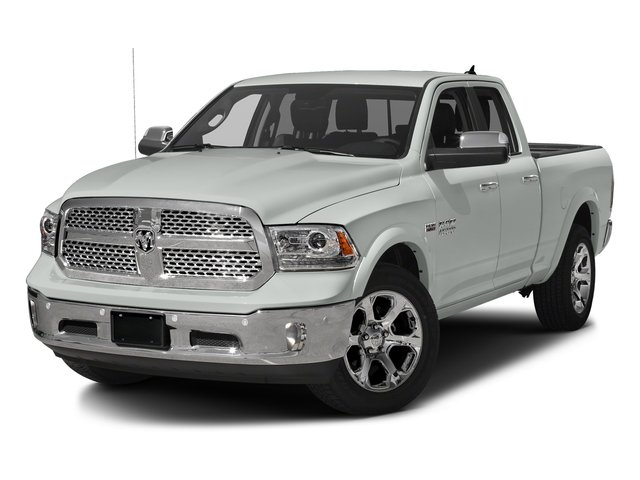 Bright White Clearcoat 2017 Ram Truck 1500 Pictures 1500 Laramie 4x4 Quad Cab 6'4 Box photos front view