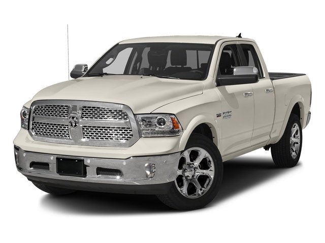 Pearl White 2017 Ram Truck 1500 Pictures 1500 Laramie 4x4 Quad Cab 6'4 Box photos front view