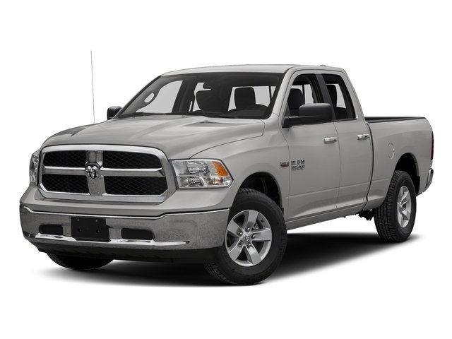 Bright Silver Metallic Clearcoat 2017 Ram Truck 1500 Pictures 1500 Quad Cab SLT 2WD photos front view