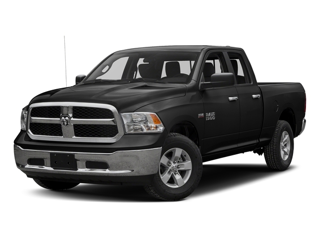 Brilliant Black Crystal Pearlcoat 2017 Ram Truck 1500 Pictures 1500 Quad Cab SLT 2WD photos front view