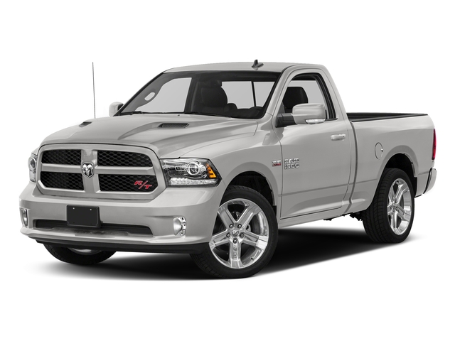 Bright Silver Metallic Clearcoat 2017 Ram Truck 1500 Pictures 1500 Night 4x4 Regular Cab 6'4 Box photos front view