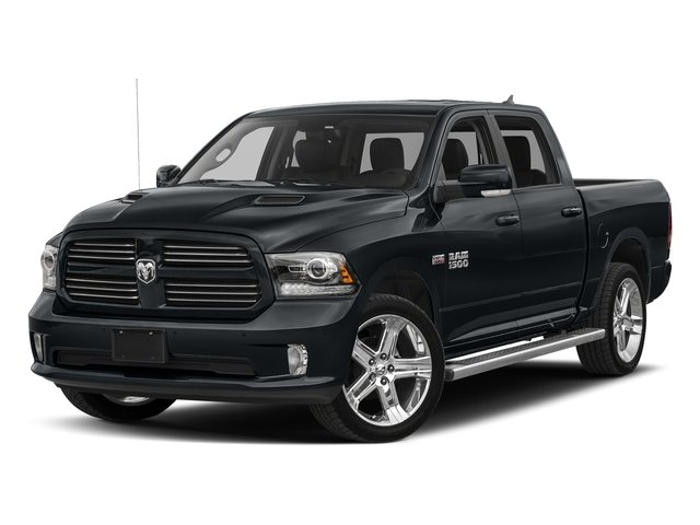 Maximum Steel Metallic Clearcoat 2017 Ram Truck 1500 Pictures 1500 Night 4x4 Crew Cab 5'7 Box photos front view