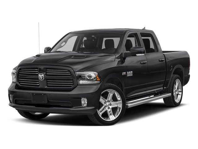 Granite Crystal Metallic Clearcoat 2017 Ram Truck 1500 Pictures 1500 Night 4x2 Crew Cab 5'7 Box photos front view