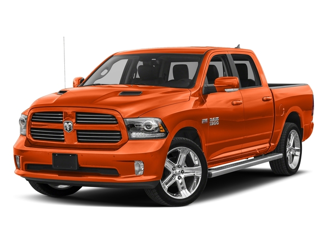 Ignition Orange Clearcoat 2017 Ram Truck 1500 Pictures 1500 Crew Cab Sport 4WD photos front view