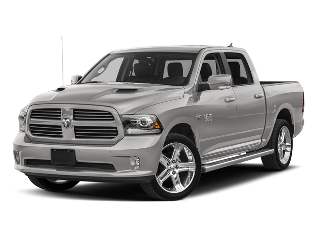 Bright Silver Metallic Clearcoat 2017 Ram Truck 1500 Pictures 1500 Crew Cab Sport 4WD photos front view