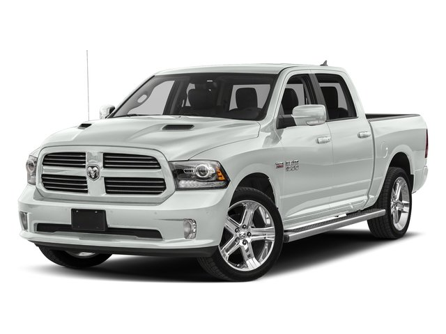 Bright White Clearcoat 2017 Ram Truck 1500 Pictures 1500 Night 4x2 Crew Cab 5'7 Box photos front view