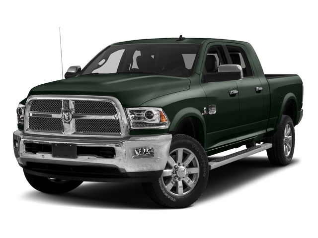 Black Forest Green Pearlcoat 2017 Ram Truck 2500 Pictures 2500 Longhorn 4x2 Mega Cab 6'4 Box photos front view