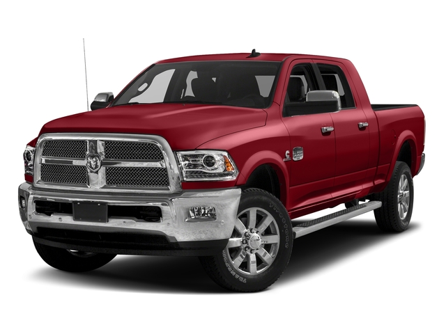 Flame Red Clearcoat 2017 Ram Truck 2500 Pictures 2500 Longhorn 4x2 Mega Cab 6'4 Box photos front view