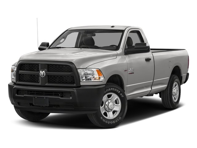 Bright Silver Metallic Clearcoat 2017 Ram Truck 2500 Pictures 2500 SLT 4x4 Reg Cab 8' Box photos front view