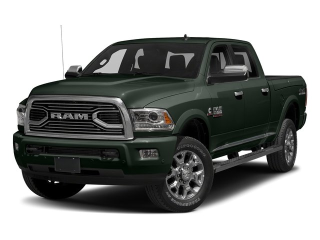 Black Forest Green Pearlcoat 2017 Ram Truck 2500 Pictures 2500 Longhorn 4x4 Crew Cab 8' Box photos front view