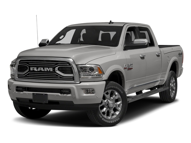 Bright Silver Metallic Clearcoat 2017 Ram Truck 2500 Pictures 2500 Laramie Longhorn 4x2 Crew Cab 8' Box photos front view