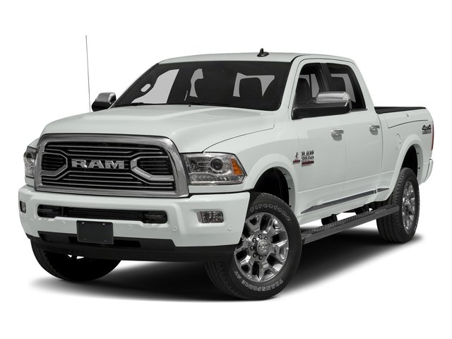 Bright White Clearcoat 2017 Ram Truck 2500 Pictures 2500 Laramie Longhorn 4x2 Crew Cab 8' Box photos front view