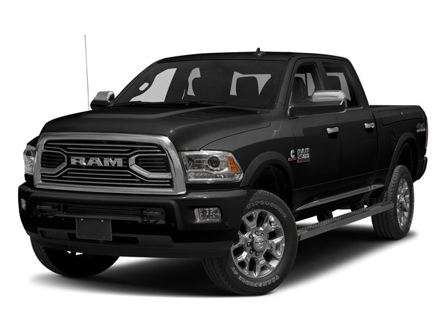 Brilliant Black Crystal Pearlcoat 2017 Ram Truck 2500 Pictures 2500 Crew Cab Longhorn 2WD photos front view