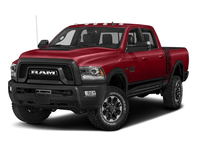Flame Red Clearcoat 2017 Ram Truck 2500 Pictures 2500 Power Wagon 4x4 Crew Cab 6'4 Box photos front view