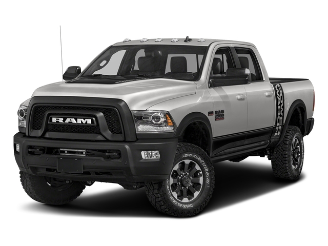 Bright Silver Metallic Clearcoat 2017 Ram Truck 2500 Pictures 2500 Power Wagon 4x4 Crew Cab 6'4 Box photos front view