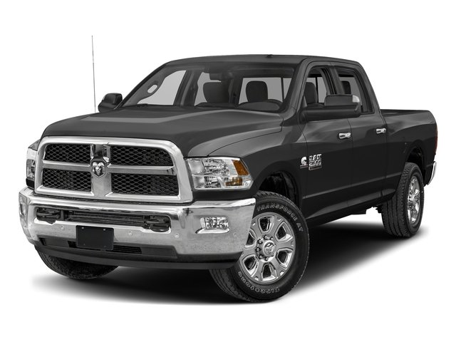 Brilliant Black Crystal Pearlcoat 2017 Ram Truck 2500 Pictures 2500 SLT 4x2 Crew Cab 8' Box photos front view