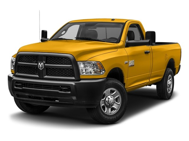 Construction Yellow 2017 Ram Truck 3500 Pictures 3500 SLT 4x4 Reg Cab 8' Box photos front view