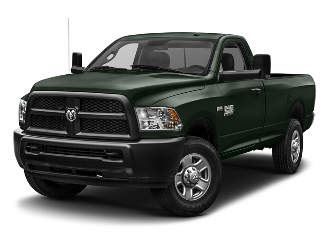 Black Forest Green Pearlcoat 2017 Ram Truck 3500 Pictures 3500 SLT 4x4 Reg Cab 8' Box photos front view