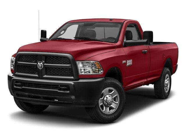 Flame Red Clearcoat 2017 Ram Truck 3500 Pictures 3500 Regular Cab SLT 4WD photos front view