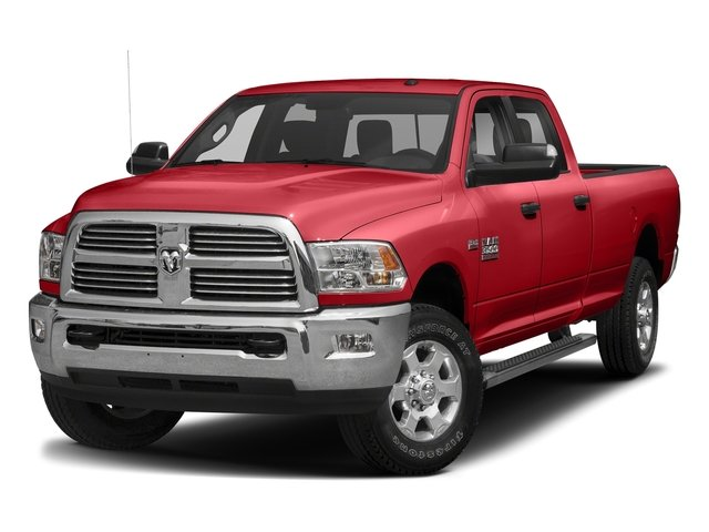 Bright Red 2017 Ram Truck 3500 Pictures 3500 Big Horn 4x2 Crew Cab 6'4 Box photos front view