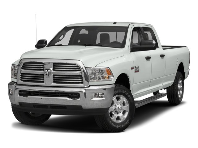 Bright White Clearcoat 2017 Ram Truck 3500 Pictures 3500 Crew Cab SLT 2WD photos front view