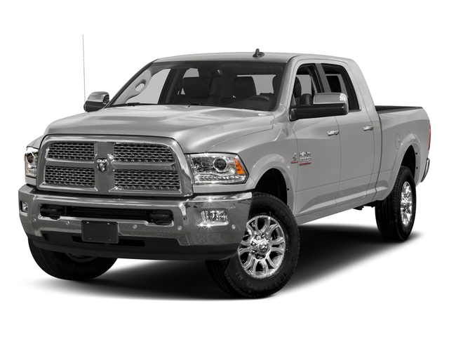 Bright Silver Metallic Clearcoat 2017 Ram Truck 3500 Pictures 3500 Laramie Longhorn 4x2 Mega Cab 6'4 Box photos front view