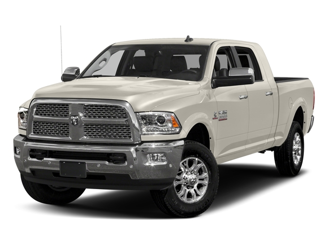 Pearl White 2017 Ram Truck 3500 Pictures 3500 Laramie 4x4 Mega Cab 6'4 Box photos front view