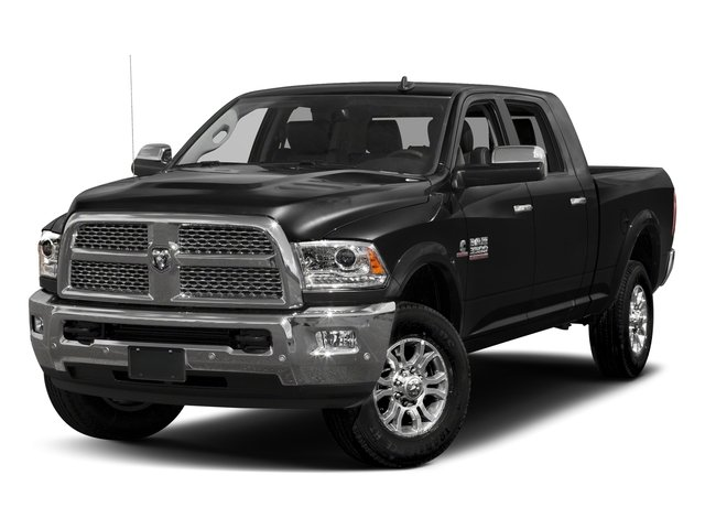 Brilliant Black Crystal Pearlcoat 2017 Ram Truck 3500 Pictures 3500 Laramie Longhorn 4x2 Mega Cab 6'4 Box photos front view